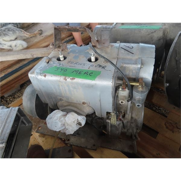 Merc 340 2 Cyl Snowmobile Motor- Turns Over