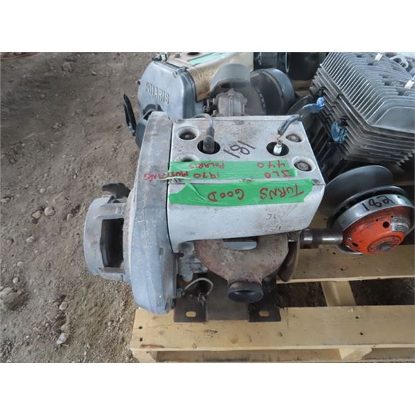 Polaris 1970 Mustang JLO 440 2 Cyl Snowmobile Engine - Turns Over