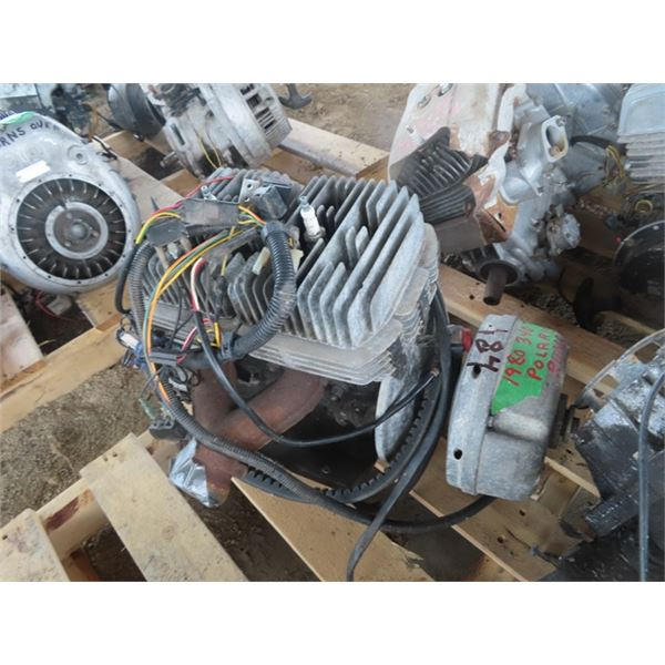 1980 Polaris 340 TC 2 Cyl Snowmobile Engine Pulled Out ot Snowmobile Last Fall  Running
