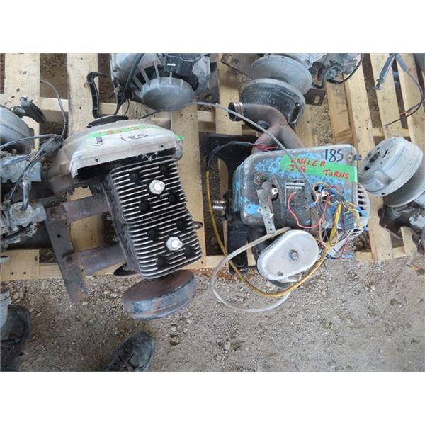 2 Kohler 399 2 Cyl Snowmobile Engines - Both Siezed