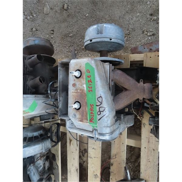 2 Polaris 2 Cyl Snowmobile Engines - Both Siezed 1) 433 & 1 Unknown???