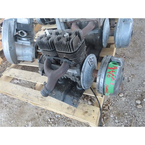Polaris 340 2 Cyl Free Air Snowmobile Engine Turns Over