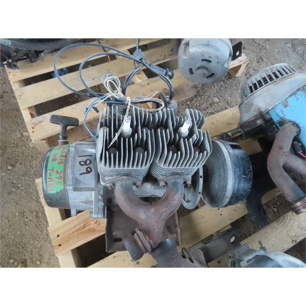 Polaris 295 Free Air 2 Cyl Snowmobile Engine Turns Over