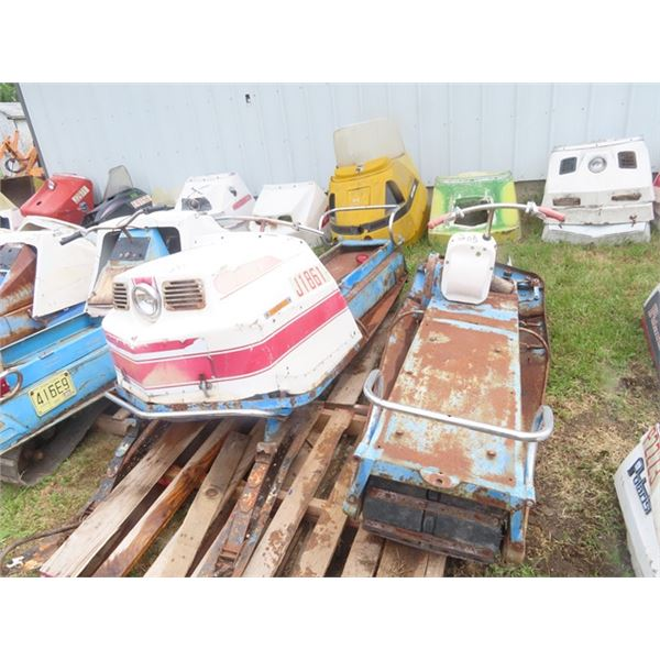 2 - 1967 Polaris Snowmobiles - One is a Mustand, & One is a Colt ( No Engines)
