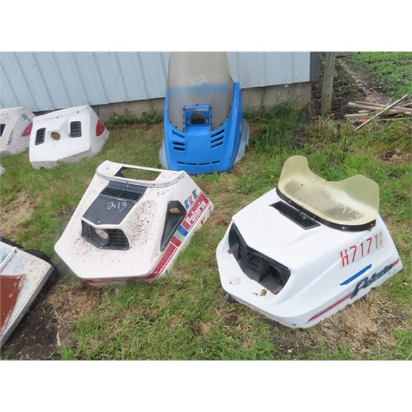 2 Early 70's Polaris Hoods- 1) Colt 1) Mustang