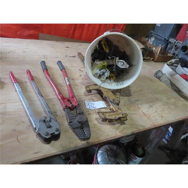 Fencing Wire TIghtener, Electric Fence Insulators & Crimpers
