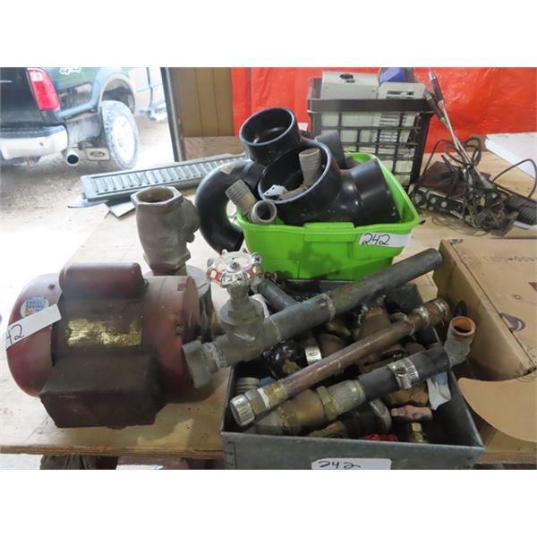 Plumbing Fittings, Brass, PCV, 1/3 HP Electric Motor