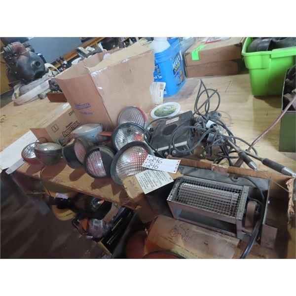 2 Way Radio, Sealed Tractor Lights & Blower