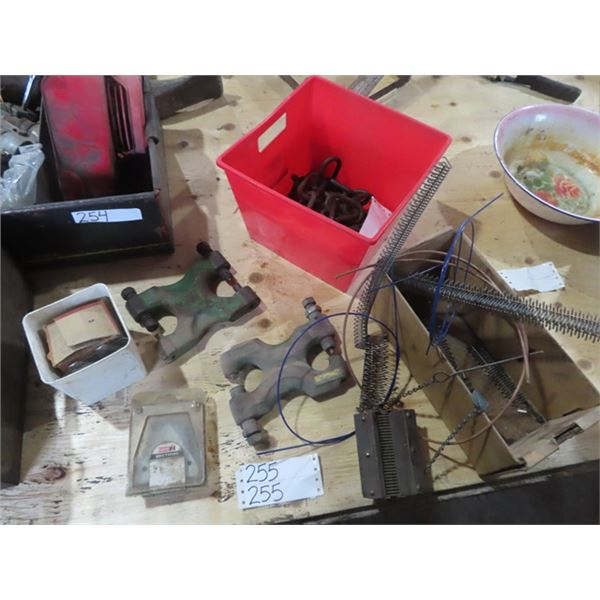 Mower Sections, 2 Riviting Tools, & Belt Lathe Tool