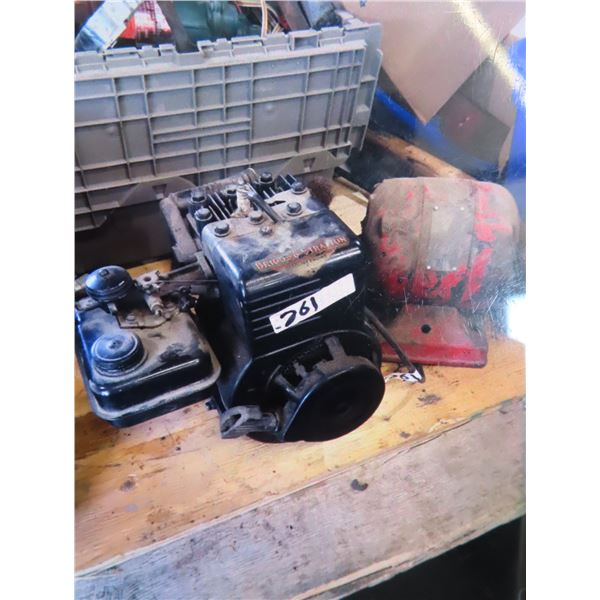 Briggs & Stratton Engine & Bench Grinder