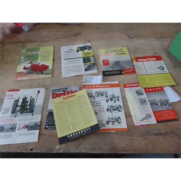 MH Combine Brochure, Oliver Tractor Brochure, Cockshutt Plow Brochure