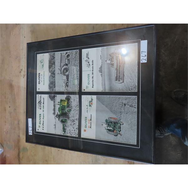 Framed Oliver Brochures, Tractor & Implement
