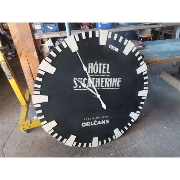 "Hotel Ste. Catherine Clock (Wood) 41""RD"