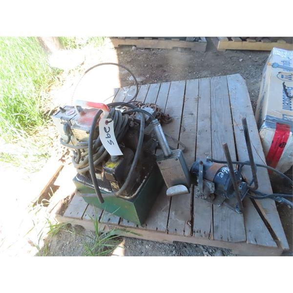 110 Hyd Pump, & 12 Volt Pump