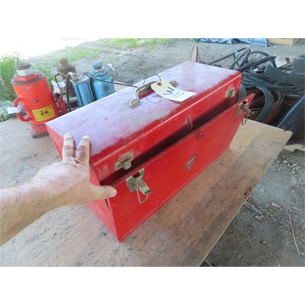 Metal Tool Box - Full, Sockets, Allan Wrenches, Screwdrivers, Wrenches, Wooden Tool Box w Hardware