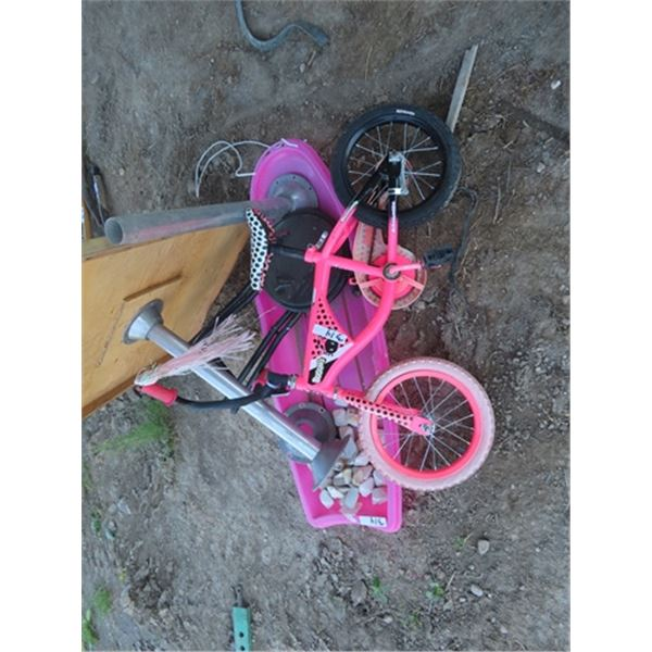 Child's Pedal Bike, Sleigh, &  RV Table