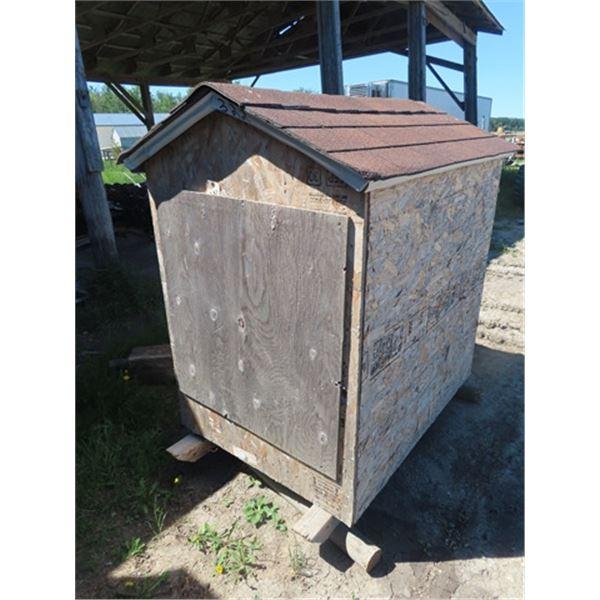 "New Insulated Dog House w 36"" W x 49"" Depth 69"" H w Heating Pad"