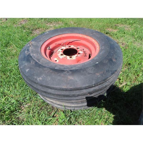 2 Implement Tires & Rims - Good Condition 7.5 0 - 16