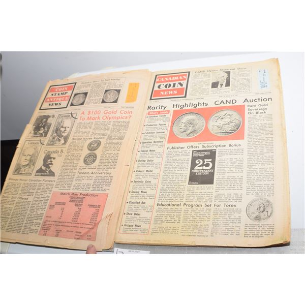 VINTAGE COIN AND STAMP NEWSPAPERS