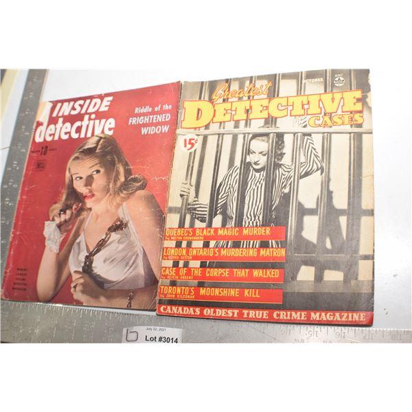 VINTAGE DETECTIVE / CRIME MAGAZINES 1942