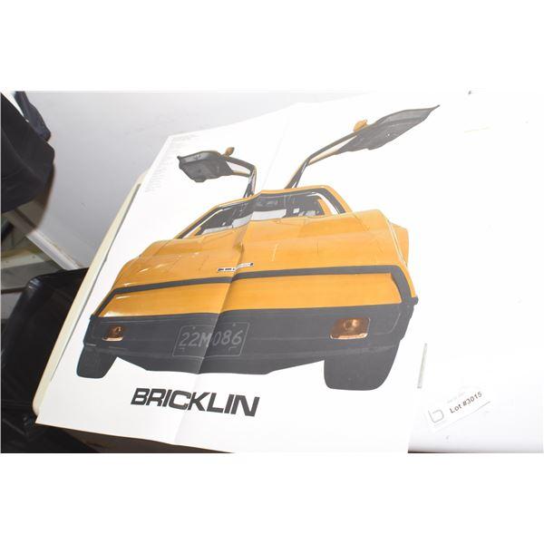 """VINTAGE 24 BY 50"""" BRICKLIN AUTOMOBILE POSTER BROCHURE"""