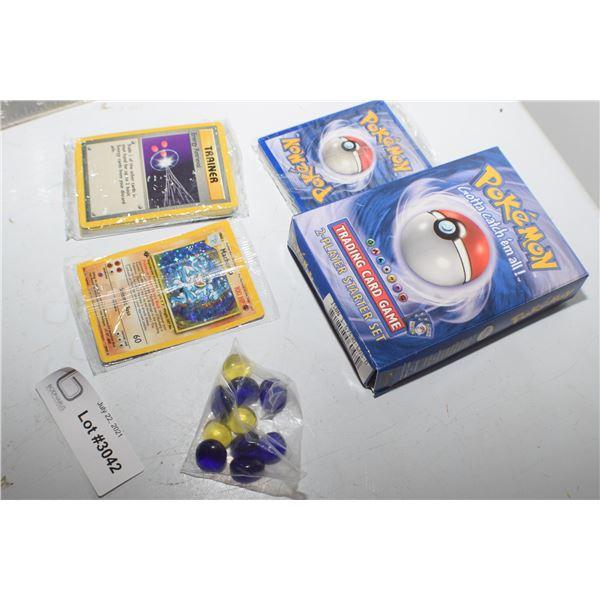 1 1999  POKEMON FRESHLY OPENED STARTER KIT CARDS STILL FACTORY SEALED
