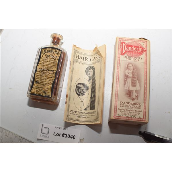 ANTIQUE BOX / BOTTLE DANDERINE HAIR TONIC