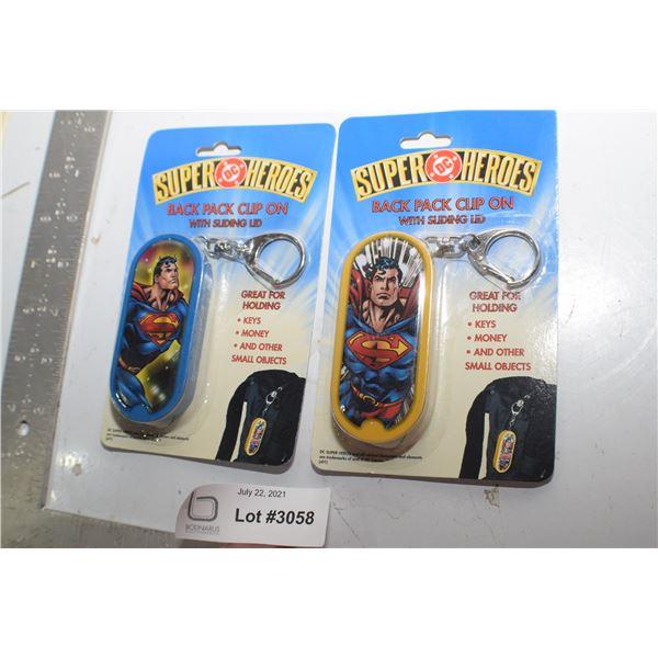 NOS SUPERMAN KEYCHAINS