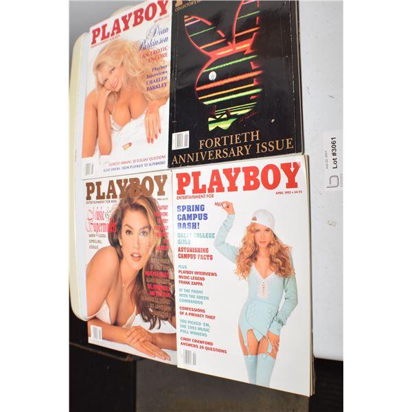 4 X PLAYBOY LOT