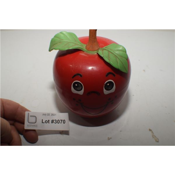 FISHER PRICE VINTAGE MUSICAL APPLE TOY