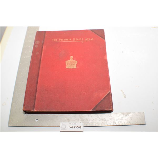WOW ! ANTIQUE QUEEN VICTORIA ATLAS WITH 200 PAGES OF FRAMABLE MAP / PLATES