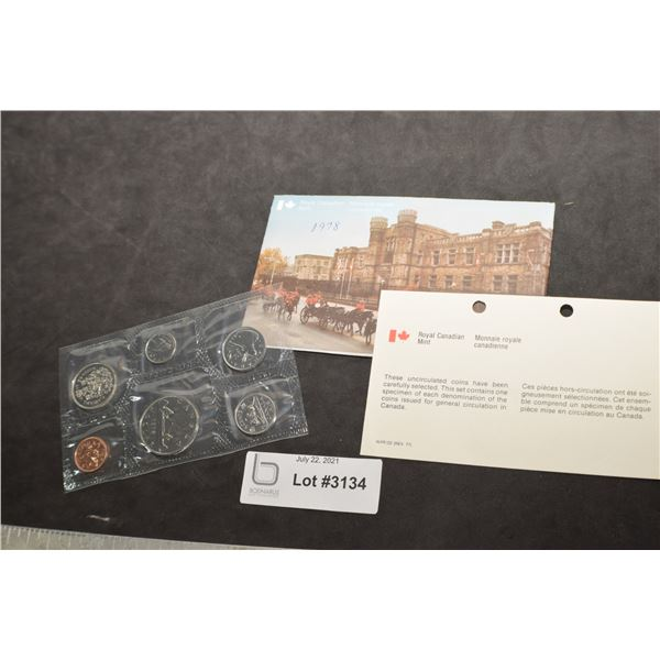 CANADA CANADIAN UNCIRCULATED COIN SET 1978