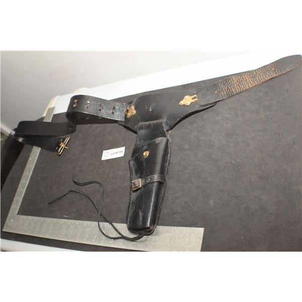 HEAVY LEATHER HOLSTER AND BELT