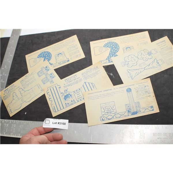 ANTIQUE NABISCO CEREAL TOYTOWN CARDS