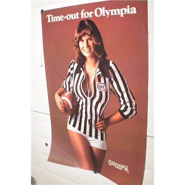 OLMPIC BEER POSTER 1979