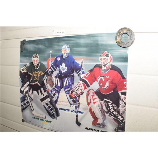 VINTAGE NHL HOCKEY GOALIE POSTER