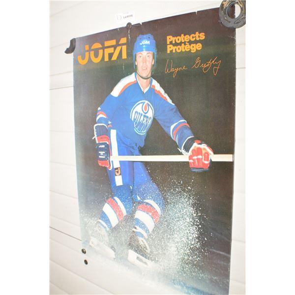VINTAGE JOFA WAYNE GRETZKY EDMONTON OILER NHL POSTER