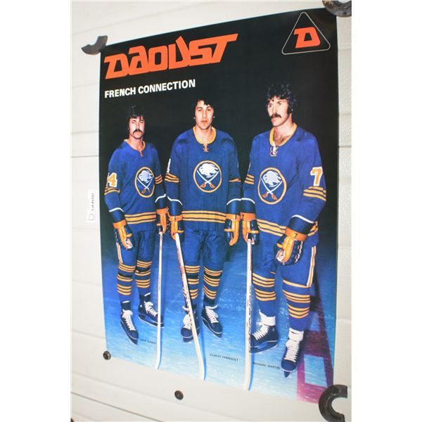 VINTAGE DAOUST SKATES NHL BUFFALO SABRES FRENCH CONNECTION