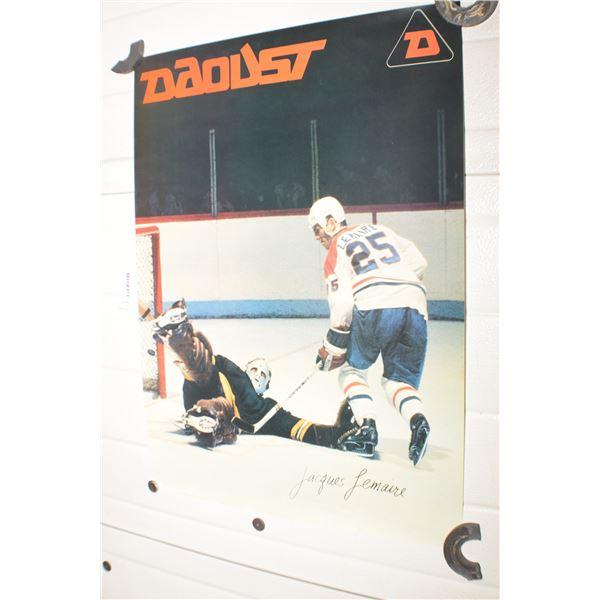 VINTAGE DAOUST SKATES NHL MONTREAL CANADIENS JACQUES LEMAIRE