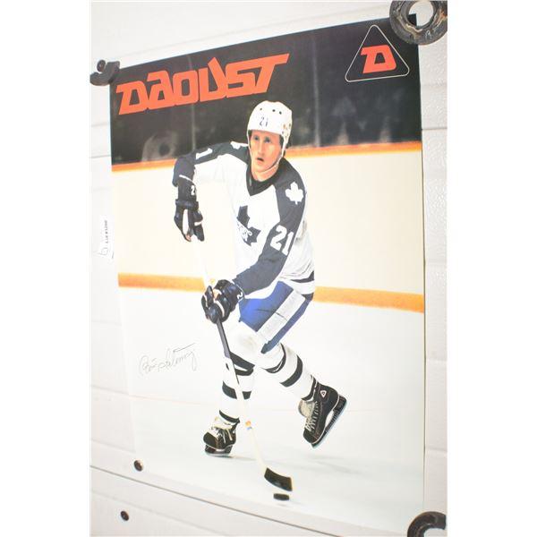 VINTAGE DAOUST SKATES NHL TORONTO MAPLELEAFS B SALMING POSTER