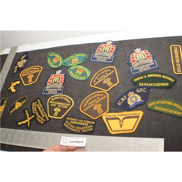 GAME WARDEN AND POLICE PATCH LOT