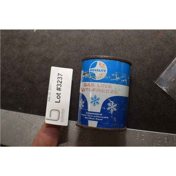 FULL 4 OZ ROYALITE GAS ANTI TIN