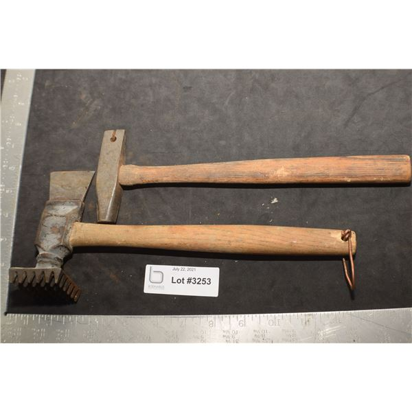 ANTIQUE TOOLS  ----------------  UPHOLSTERY HAMMER ETC