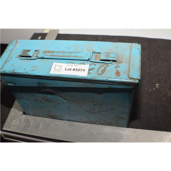 ANTIQUE MILITARY SHELL BOX