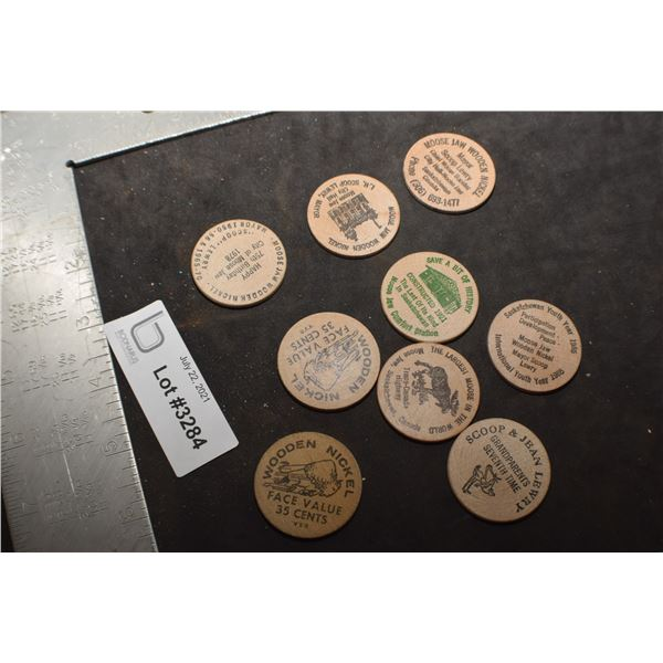 MOOSE JAW WOODEN NICKLE LOT