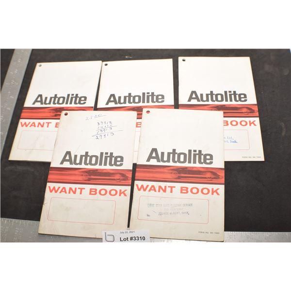 FORD AUTOLITE NOTEBOOKS ANTIQUE