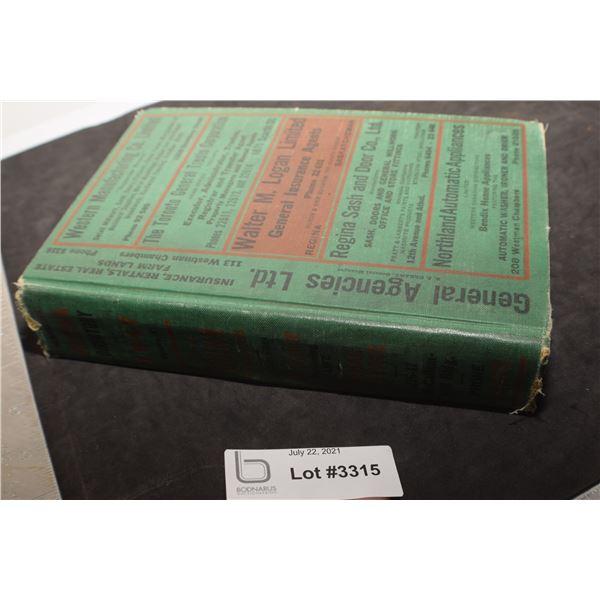 REGINA SASK 1947 DIRECTORY RED INDIAN OIL ETC