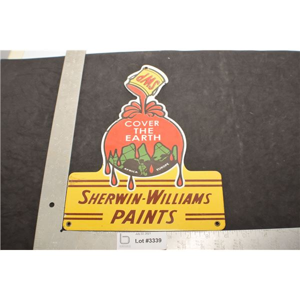 HEAVY PORCELAIN STEEL ADVERTISING FANTASY SIGN......SHERWIN WILLIAMS PAINT