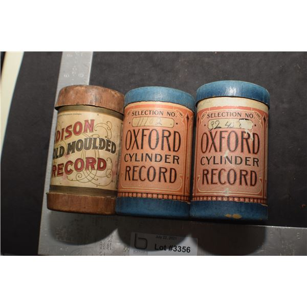 3 X CYLINDER RECORDS