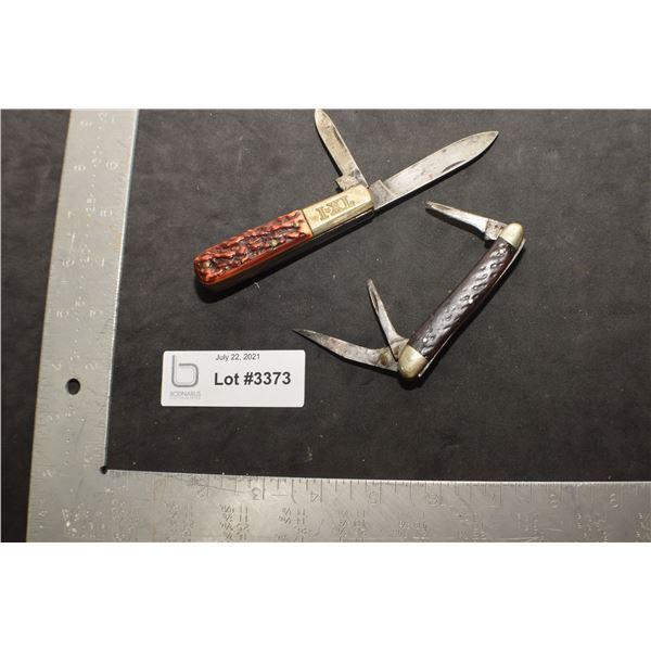 FOLDING KNIVES .....   GEO. WOSTENHOLM  SHEFFIELD & PREMIER LIFETIME
